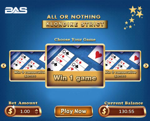 Betanysports Mini Game All or Nothing Klondike Strict Solitaire is Ready to Play on Your Mobile Device.