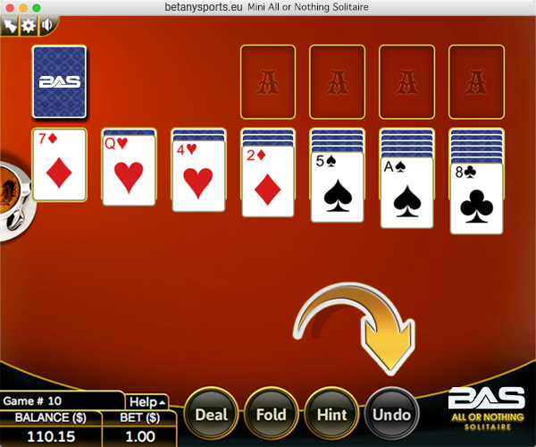Betanysports Mini Game - Vegas Solitaire